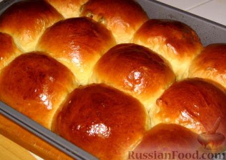 простые дрожжевые булочки фото рецепт