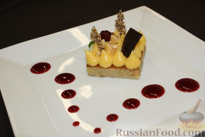 Рецепт Банановый десерт с кремом из маракуйи