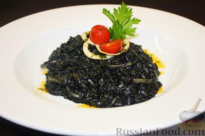 Рецепт Ризотто с чернилами каракатицы