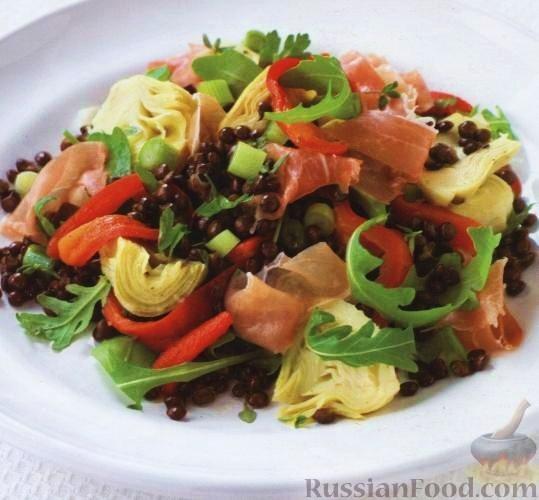 Рецепт Чечевица с артишоками и перцем