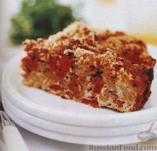 Рецепт Макаронная запеканка с ветчиной и овощами