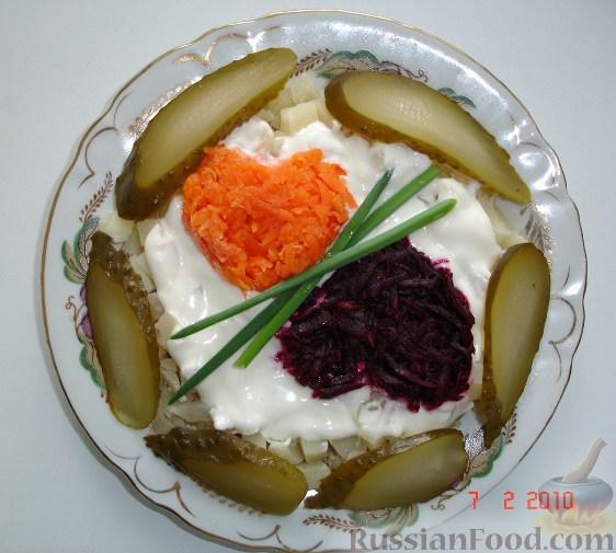 Рецепт Картошка с овощами и солеными огурчиками