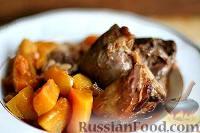 Фото к рецепту: Голень барашка с печеной тыквой