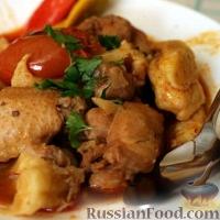 Фото к рецепту: Курица с картошкой и клецками