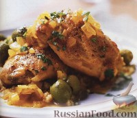Фото к рецепту: Курица с оливками