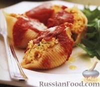 Фото к рецепту: Конкильоне (большие ракушки) с тыквой и рикоттой
