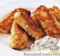 Фото к рецепту: Рыбные палочки в сухарях