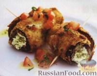 Фото к рецепту: Баклажаны с сыром и помидорами