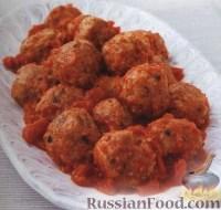 Фото к рецепту: Свиные тефтельки в томатном соусе