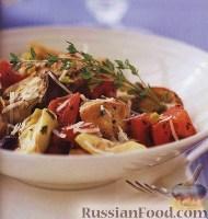 Фото к рецепту: Курица с картофелем по-средиземноморски