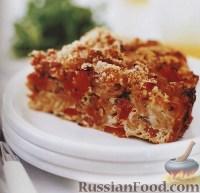 Фото к рецепту: Макаронная запеканка с ветчиной и овощами
