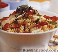 Фото к рецепту: Салат с макаронами, цветной капустой и ветчиной