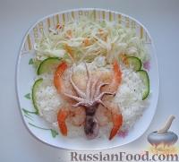 Фото к рецепту: Рис и морепродукты