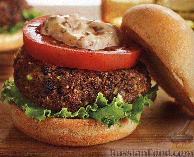 Рецепт Бургеры с фасолевыми котлетами