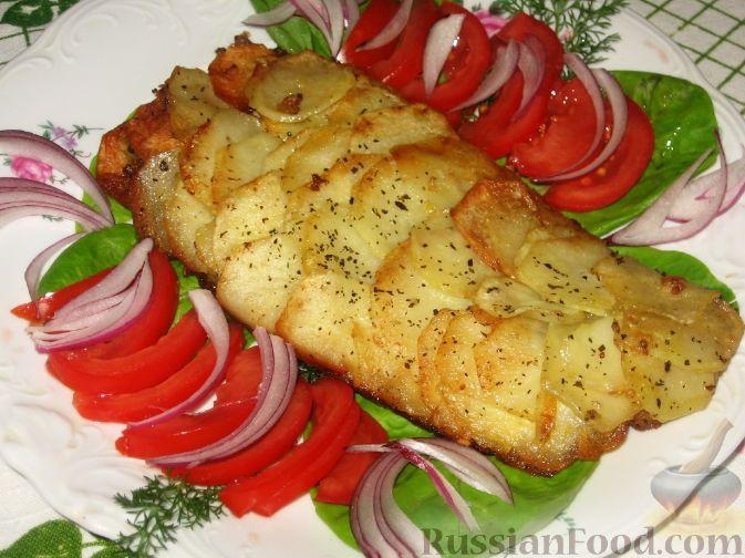 Фото к рецепту рыба в картофельной
