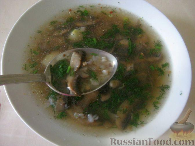 Рецепт Гречневый суп с шампиньонами