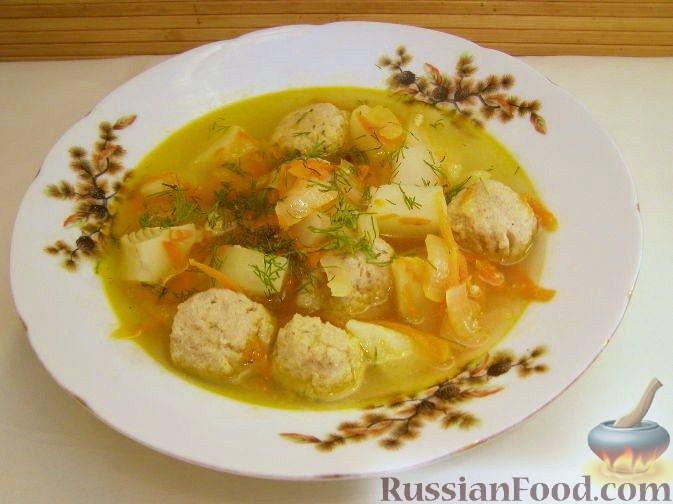Рецепт Суп с фрикадельками из рыбных консервов