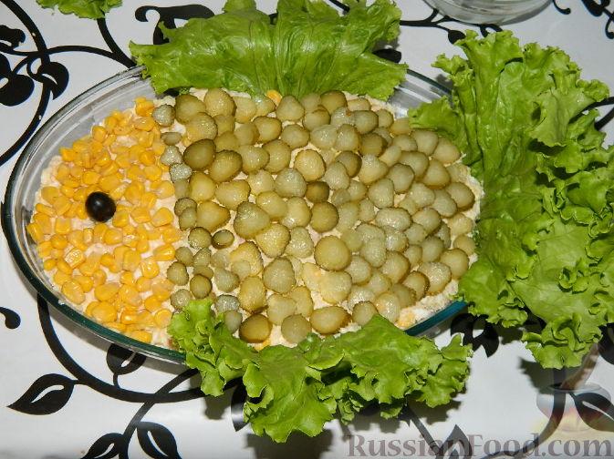 """Рецепт Салат из консервированной рыбы """"Три желания"""""""