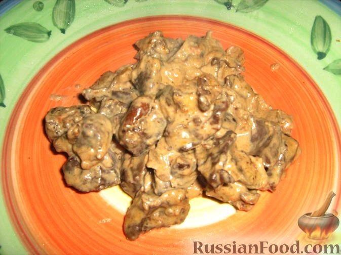Рецепт Сердечки в сливочном соусе с грибами