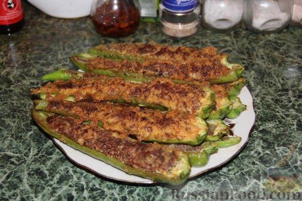 Рецепт Острый перец, фаршированный мясом, в кляре