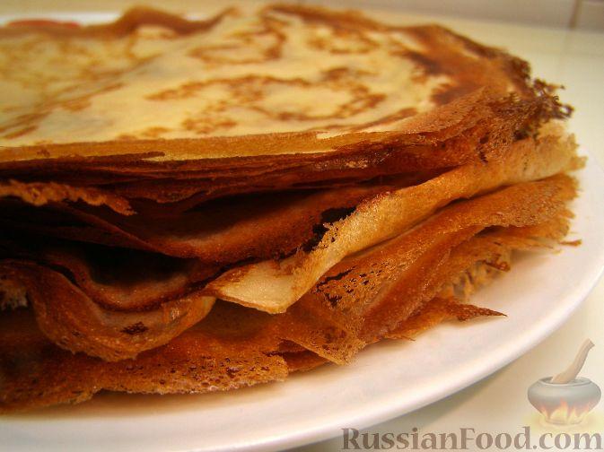 Рецепт Тонкие блины без муки (на крахмале)