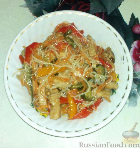Рецепт Салат из фунчозы с мясом