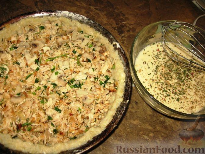 картофельный пирог с курицей