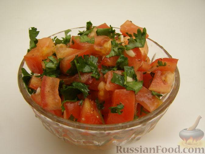 Рецепт Салат с помидорами и кинзой