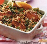 Фото к рецепту: Рис с курицей и овощами