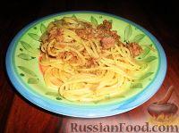Фото к рецепту: Спагетти с тунцом