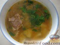 Фото к рецепту: Рисовый суп с мясом