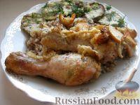 Фото к рецепту: Куриное мясо, запечeнное в маринаде