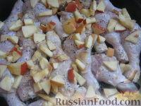 Фото приготовления рецепта: Куриное мясо, запечeнное в маринаде - шаг №10