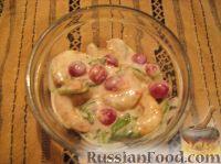 Фото к рецепту: Креветки с красной смородиной