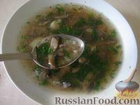 Фото к рецепту: Гречневый суп с шампиньонами