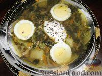 Фото к рецепту: Зеленый борщ с капустой