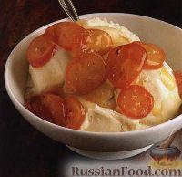 Фото к рецепту: Ванильный соус из кумквата и винограда