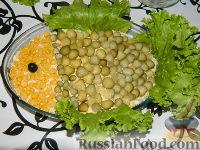 """Фото к рецепту: Салат из консервированной рыбы """"Три желания"""""""
