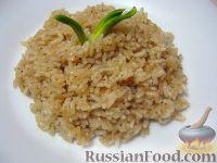 Фото к рецепту: Жареный рис на гарнир