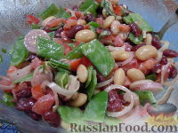 Фото к рецепту: Салат из фасоли