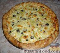 Фото к рецепту: Пицца мясная по-домашнему