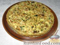 Фото к рецепту: Картофельный пирог с курицей и шампиньонами