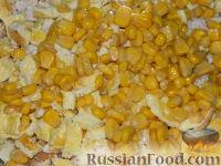 """Фото приготовления рецепта: Простой салат с курицей """"Квочка"""" - шаг №7"""