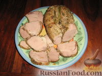 """Фото к рецепту: Буженина из свинины """"Нежность"""""""
