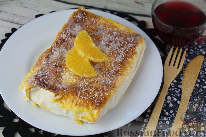 Фото приготовления рецепта: Овсяные батончики с апельсином, бананом и арахисом - шаг №6