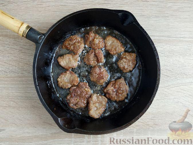 Фото приготовления рецепта: Сырный суп с шампиньонами и консервированной кукурузой - шаг №12