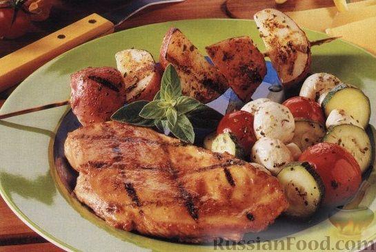 Рецепт Куриное филе, приготовленное на гриле