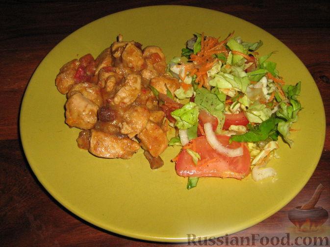 Рецепт Курочка с грибами и болгарским перцем