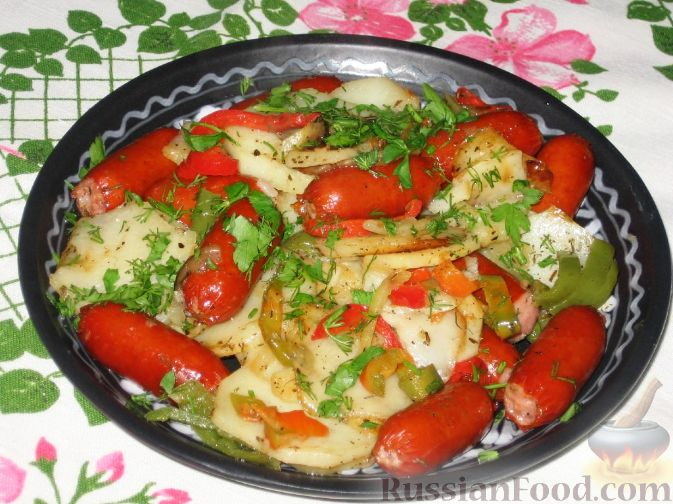 Рецепт Картофельное рагу с колбасой