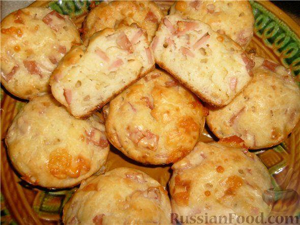 Маффины рецепт с сыром и ветчиной